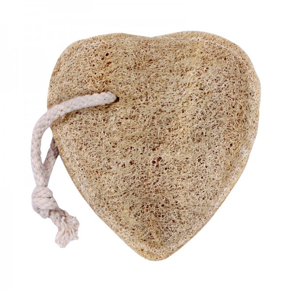 Natural Loofah Heart